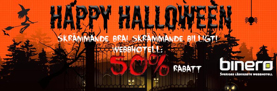 Binero rea under halloween – Webbhotell för halva priset!